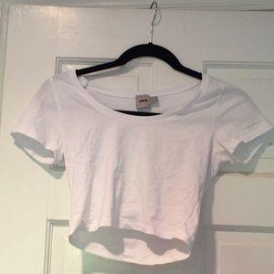 Asos white t shirt crop top