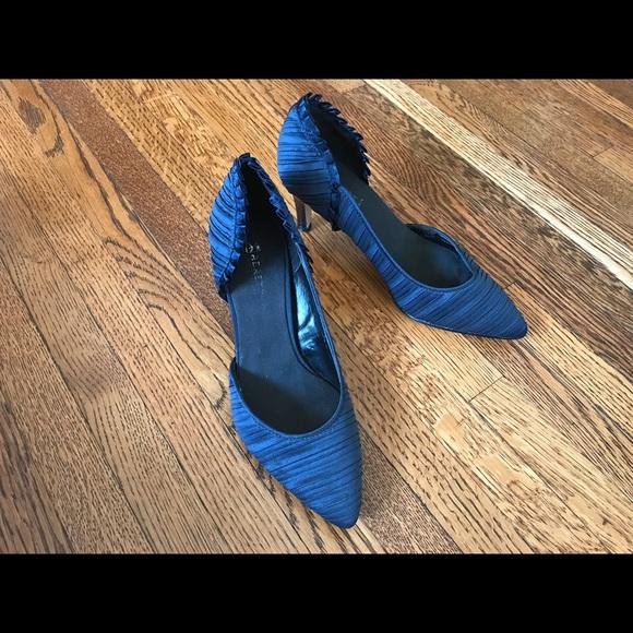 176f810cbca5 Abaete Blue Satin Dressy heels