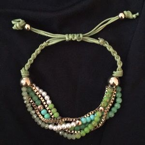 Jewelry - Gold and Green Bracelet