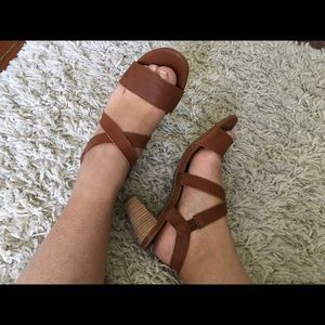 LUCKY BRAND strappy slip-on sandals