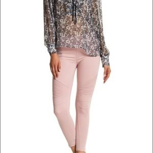 Beulah Moto Leggings in Dusty Pink NWT