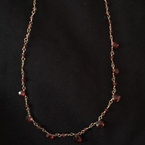 """Jewelry - Gold and """"garnet"""" Necklace"""