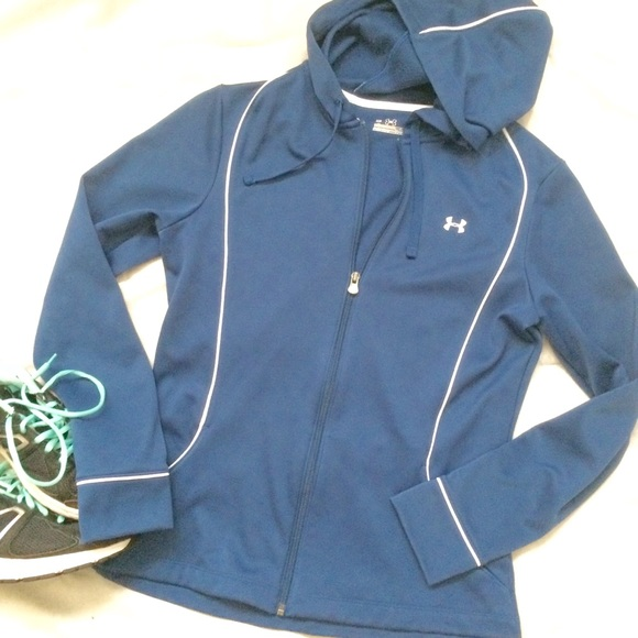 NWT Under Armour Youth All Seasons Full Zip Polyester Long Sleeve Blue Jacket