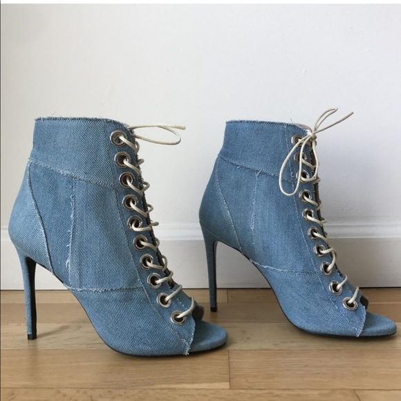 cheap sale lowest price Barbara Bui Denim Lace-Up Booties pre order online quality free shipping outlet buy cheap view 3INMKcaT