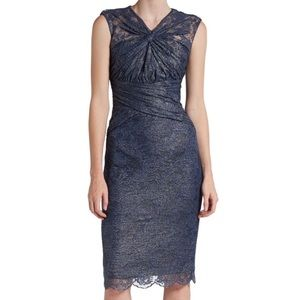 🔥 Badgley Mischka Collection Lace Cocktail Dress