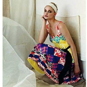Maeve spice & Jewel's patchwork dress