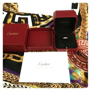 Cartier semi new white gold ring