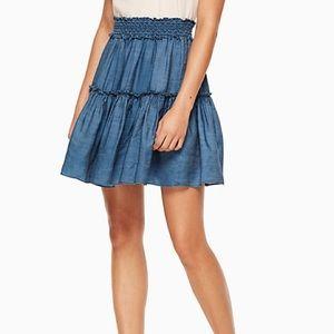 kate spade chambray skirt xxs
