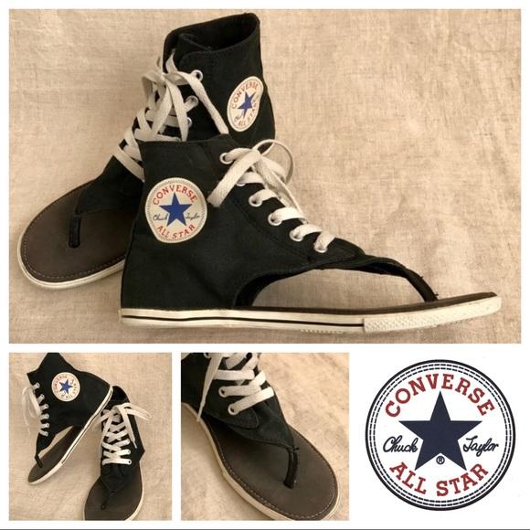 bff3a7102fc200 Converse Shoes - Converse high-top thong sandals - super cute!
