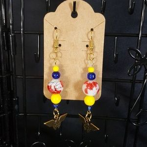 Handmade Wonder Women Earrings