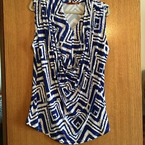 NWOT.  Belldini Royal Blue and White - 1X