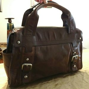 Beautiful Smooth Brown Leather Satchel