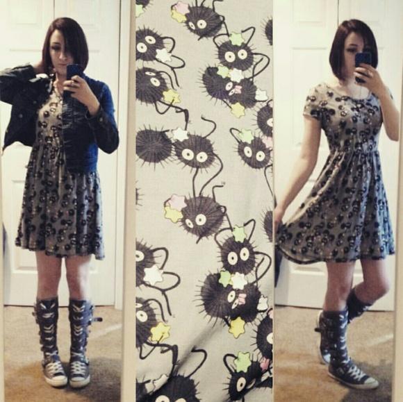 80a12909212c Hot Topic Dresses   Skirts - Studio Ghibli Spirited Away Soot Sprite Dress