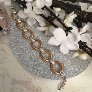 Brighton Two Tone Bracelet with Crystals