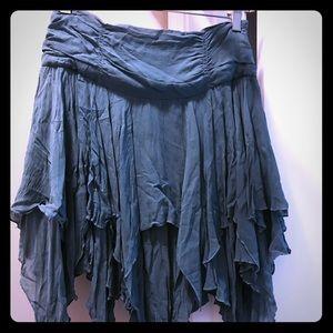 bebe Handkerchief Hem Skirt