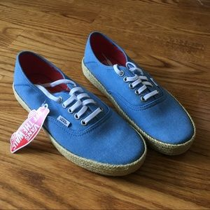 NEW Vans Authentic ESP in Washed Canvas Blue