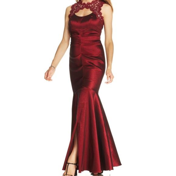 Xscape Dresses | Sleeveless Glitter Lace Mermaid Gown 150 | Poshmark
