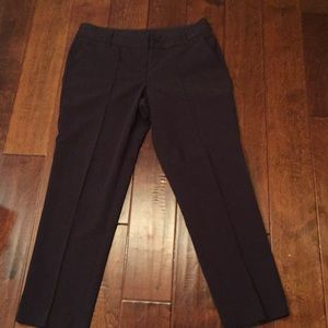 Plum colored ankle pants