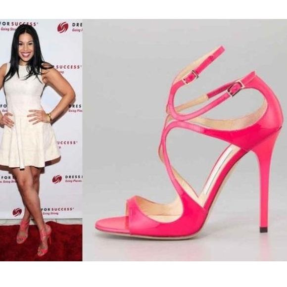 jimmy choo heels pink
