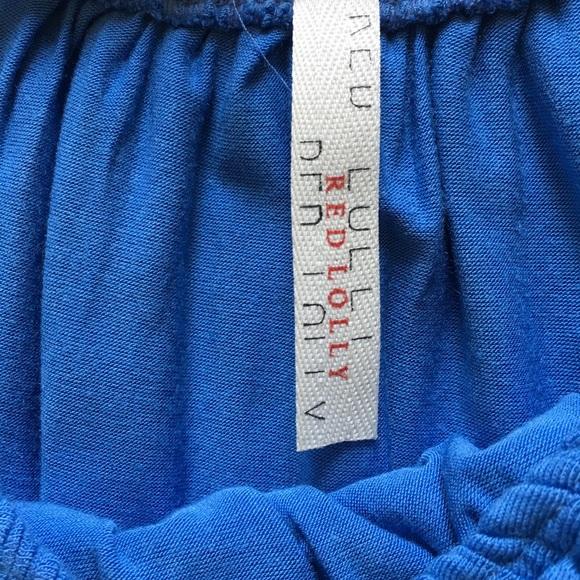 Tops - NEW Blue Ruffle Off-Shoulder Top