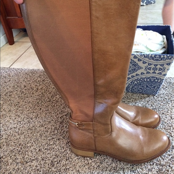 d659a229fc3 Torrid extra wide calf tan over knee boots 11 11W.  M 59b5c4664e95a304780639a3