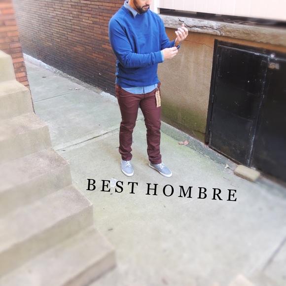 Best Hombre Fashion Pants - HP! Slim Chino Pants - Burgundy