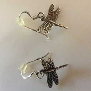 Jewelry - Sterling silver dragon fly earrings