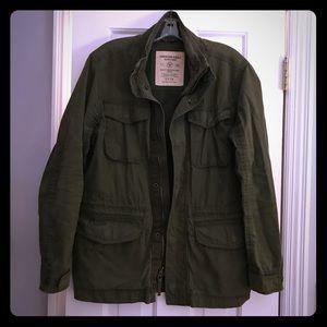 American Eagle Green Military Jacket