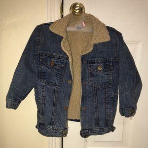 Other - Faux wool denim jacket