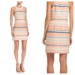 Trina Turk Aptos Jacquard Beaded Neck Dress