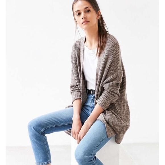 Urban Outfitters Bdg Womens Medium Green Cardigan Sweater