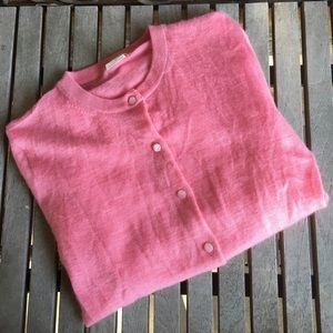 J.Crew Pink Salmon Cashmere Sweater Cardigan