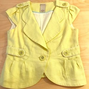 Lemon yellow Anthropologie jacket