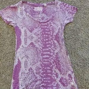 Purple snake skin looking shirt