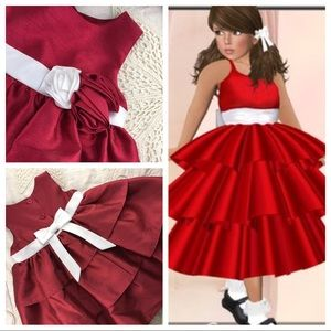Perfect infant girl Christmas holiday dress