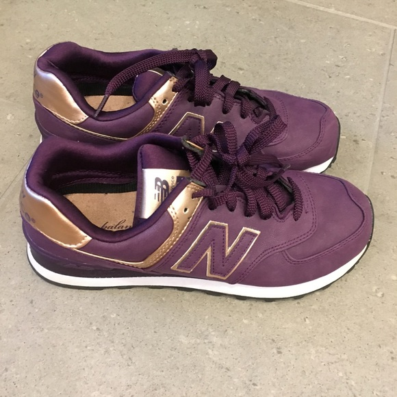outlet store be82a 67e4c Purple   Rose Gold New Balance Sneakers. M 59b5cb56f0137dd190063232