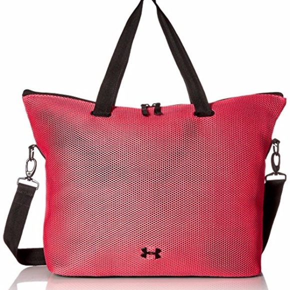 1aeec6b8ef Under Armour On the Run Pink Black Tote Gym Bag. M 59b5cbce41b4e0896406599e