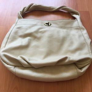 J. Crew Cream leather bag