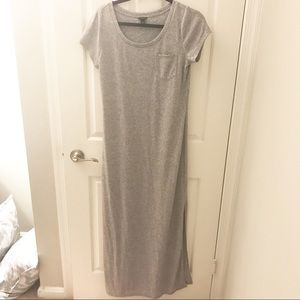 AnnTaylor Gray Maxi Dress Size Small. Worn Twice!