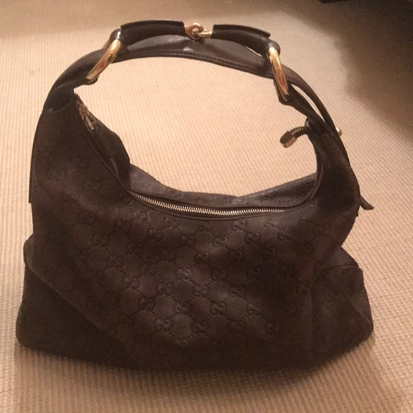 Gucci Handbags - Gucci Brown Leather Horsebit Hobo 7f14d3feeb21d