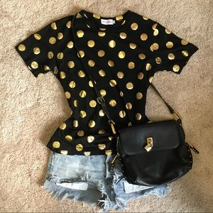 Gold Polka Dot T-shirt