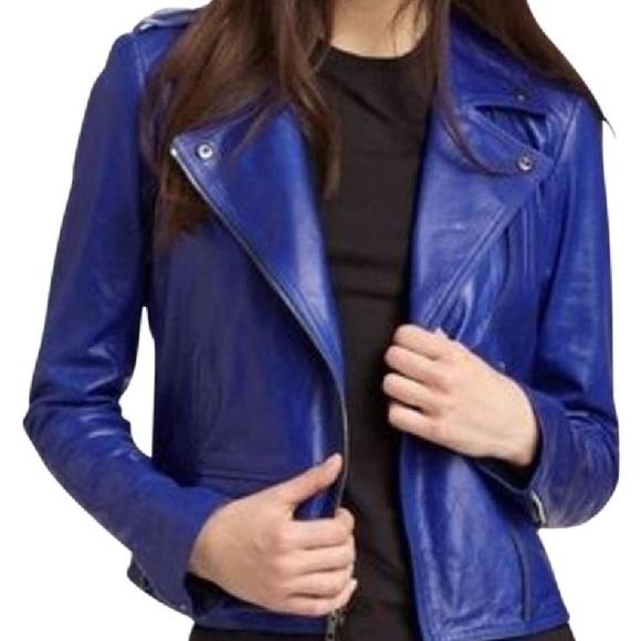 3c1542c170 Theory Jackets & Coats | Elenian Cobalt Leather Jacket | Poshmark