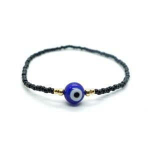 Jewelry - Blue and Black Evil Eye Bracelet, handmade