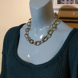 Silver + Gold Vintage Chain Necklace