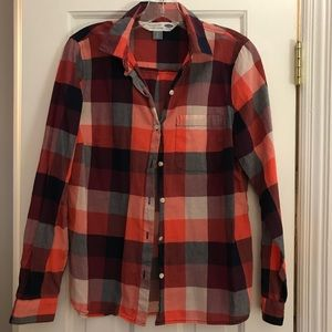 NWOT Old Navy Plaid Classic Shirt