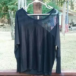 Glitz Black Long Sleeved Top - Size Large