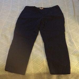 Navy Merona ankle skinny trouser, 12