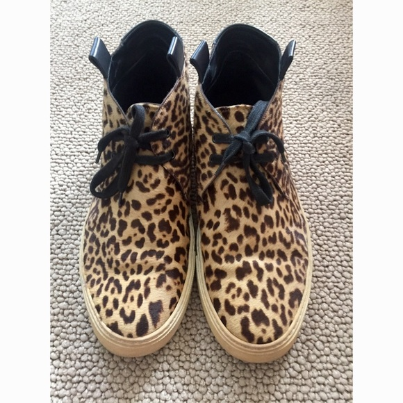 dd0f79b145b YSL Mojave Men Leopard Print Chukka shoes sz 45. M_59b5d6e141b4e00d9a0690dd