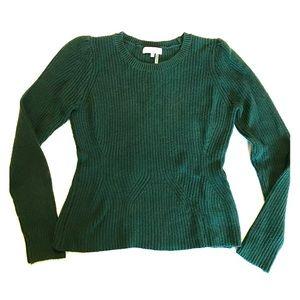 1. State Hunter Green Crew Neck Sweater Angora Sm