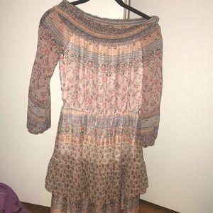 Off the shoulder dress by Shoshana!